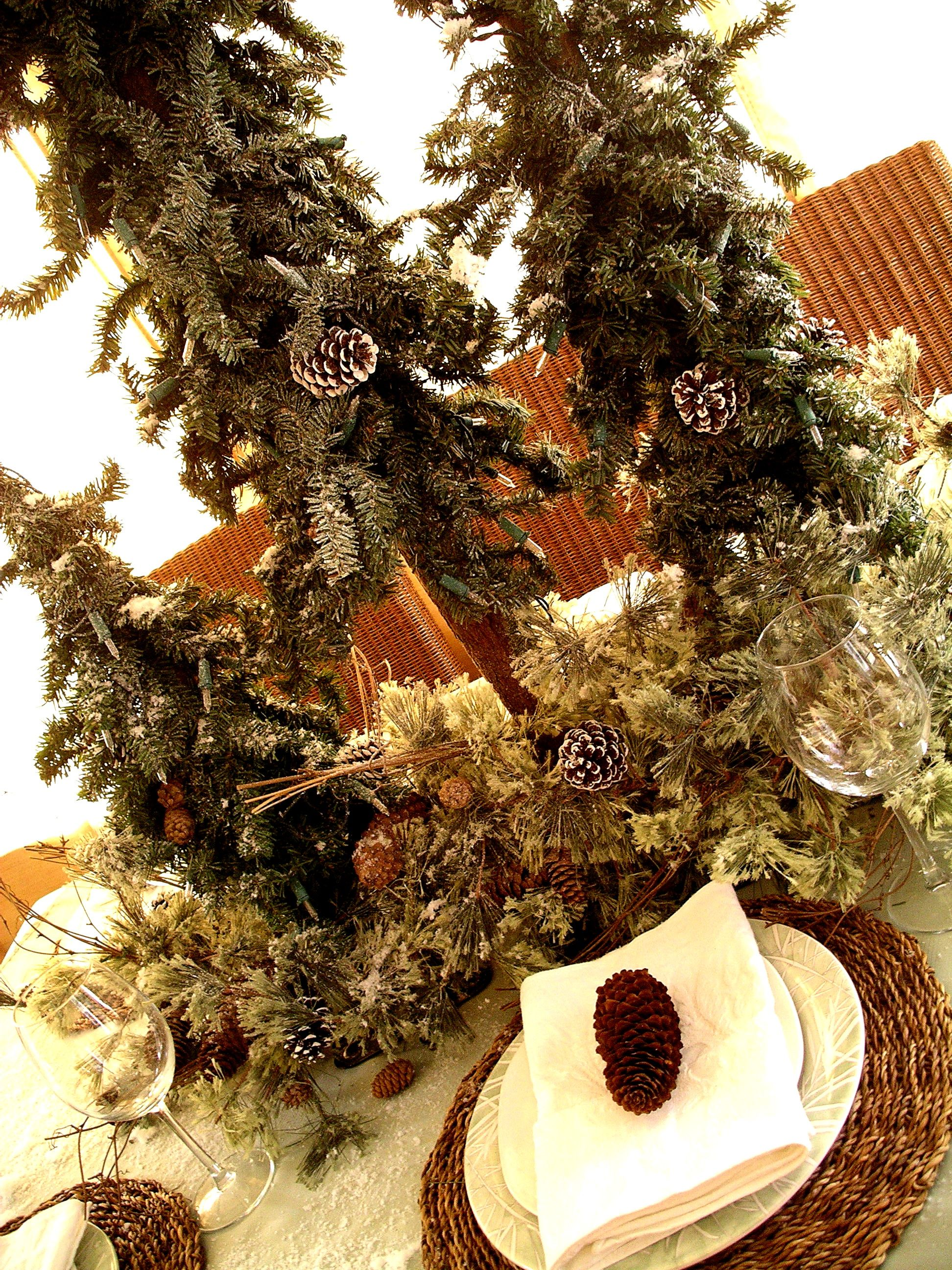 page rustic elements.  Elements A Winter Table Design In White U0026 Mint Accented With Rustic Elements Of  Evergreens And Pine Cones Httpwwwbloomedtolastcompage9weddingevent  Throughout Page Rustic
