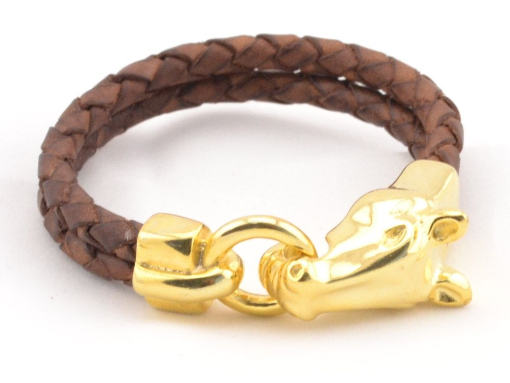Gold Horse Bracelet Country Western Jewelry Lover Men
