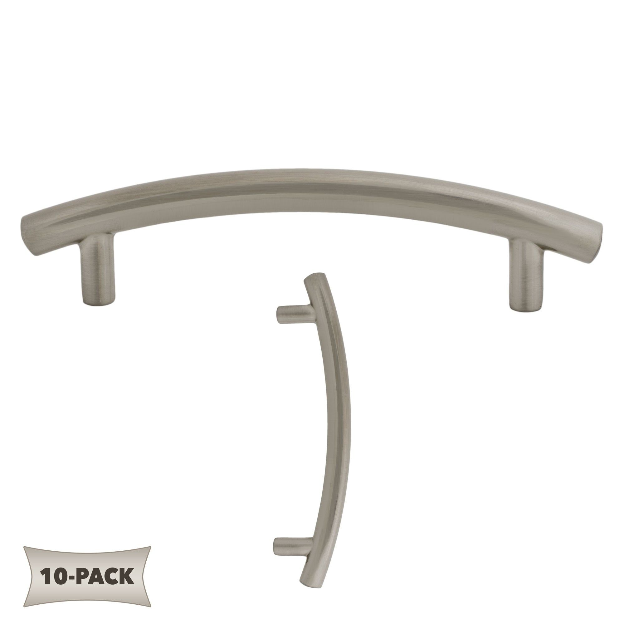 Ultra Hardware 10 Pack Contemporary Arch Bar Kitchen Cabinet