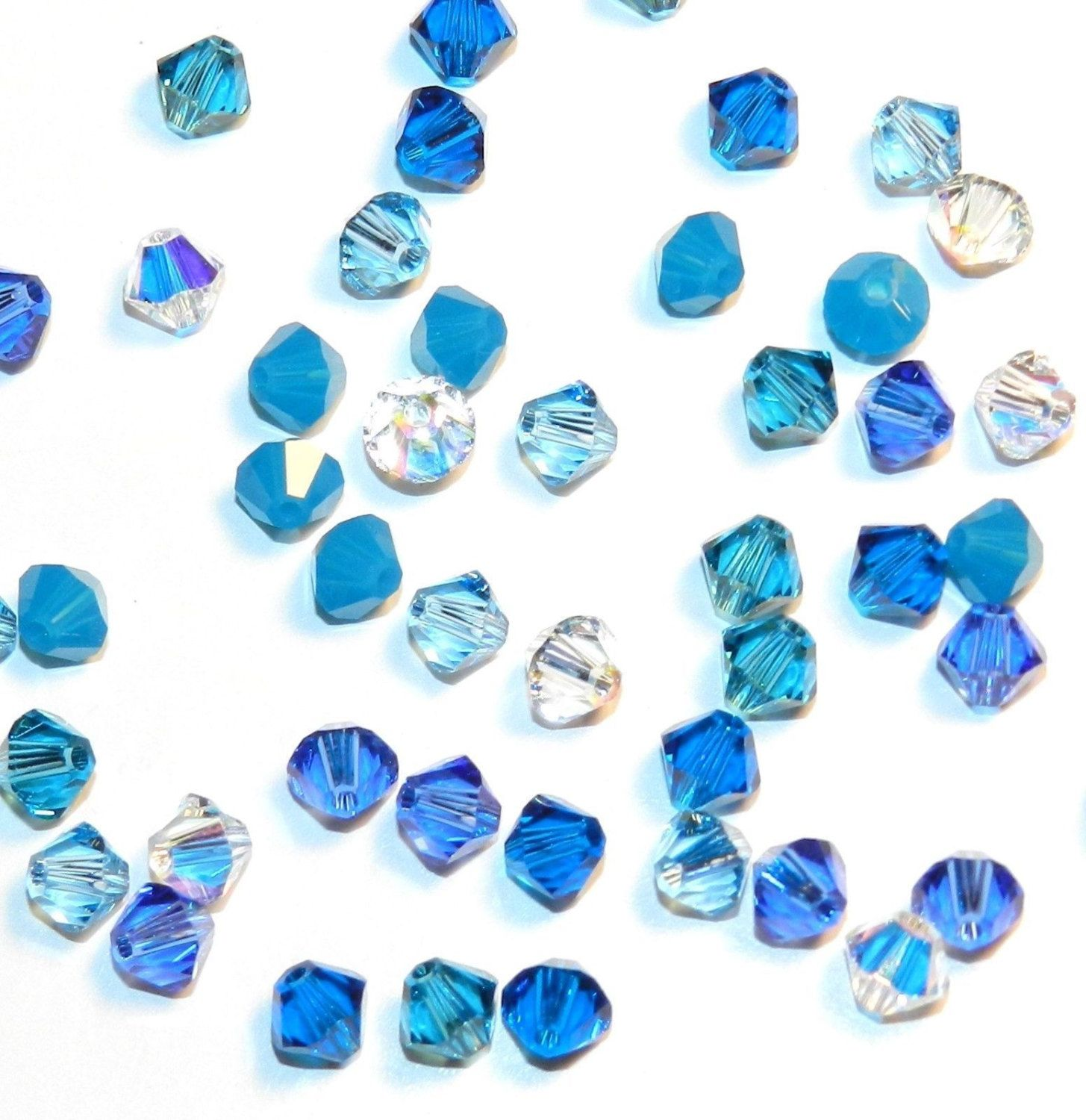 144 Swarovski 5328 XILION Crystal Bicone Beads 1 gross 4mm Assorted Mix Colors