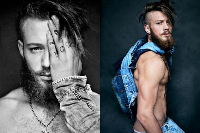 en general no me van las barbas, pero...siempre hay una excepcion n_n Declan-John shot by Markus Lambert