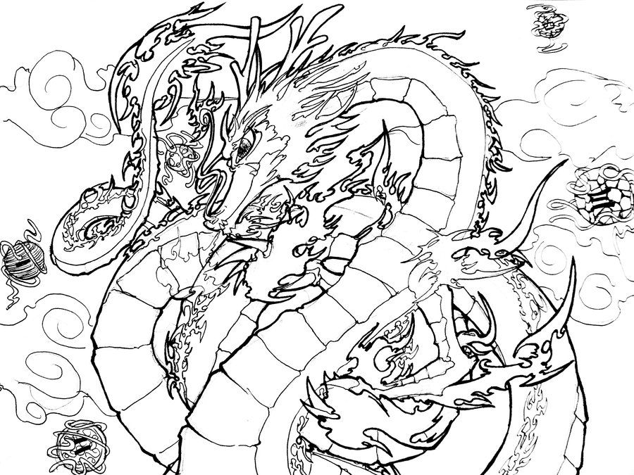 Legendary Dragon Coloring Pages Wiring Diagram