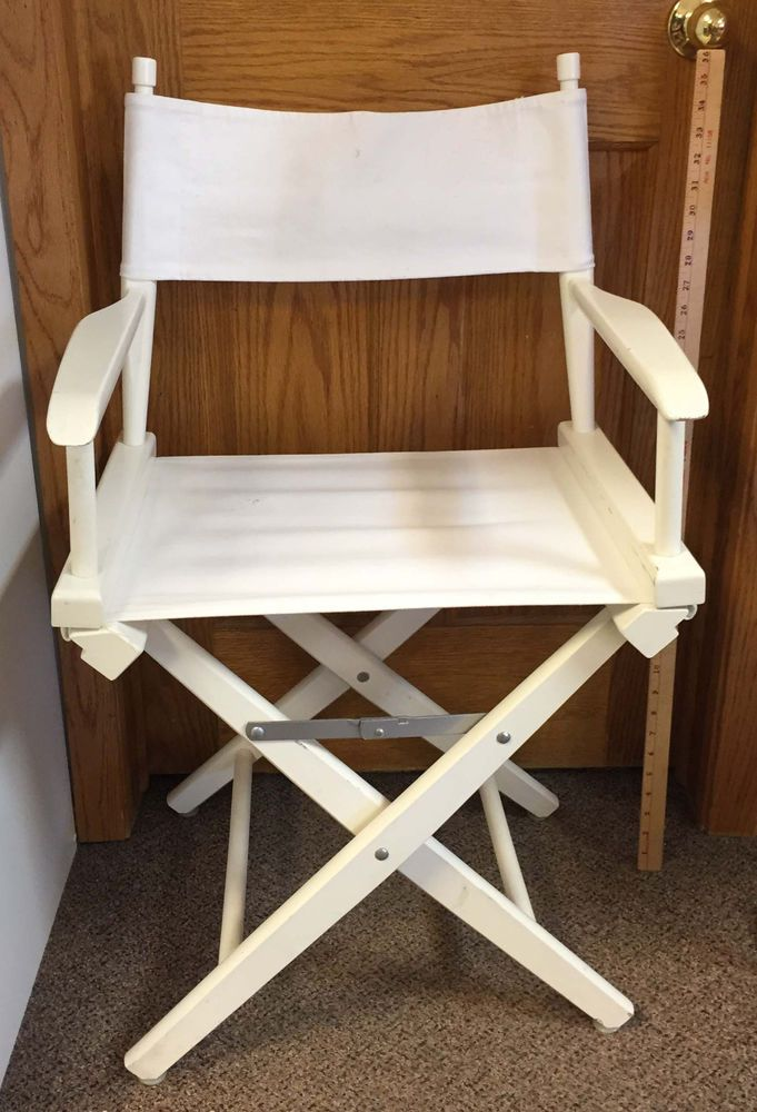 Directors Chair Pier One White Folding Wood Canvas Fabric Seat U0026 Back Beach  #PierOne