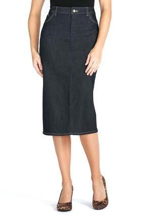 54d3e759104 Cato Fashions Crystal Button Denim Skirt  CatoFashions