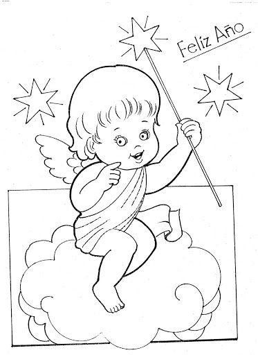 Resultado de imagen para molde de angelita en nube | Angelitos ...