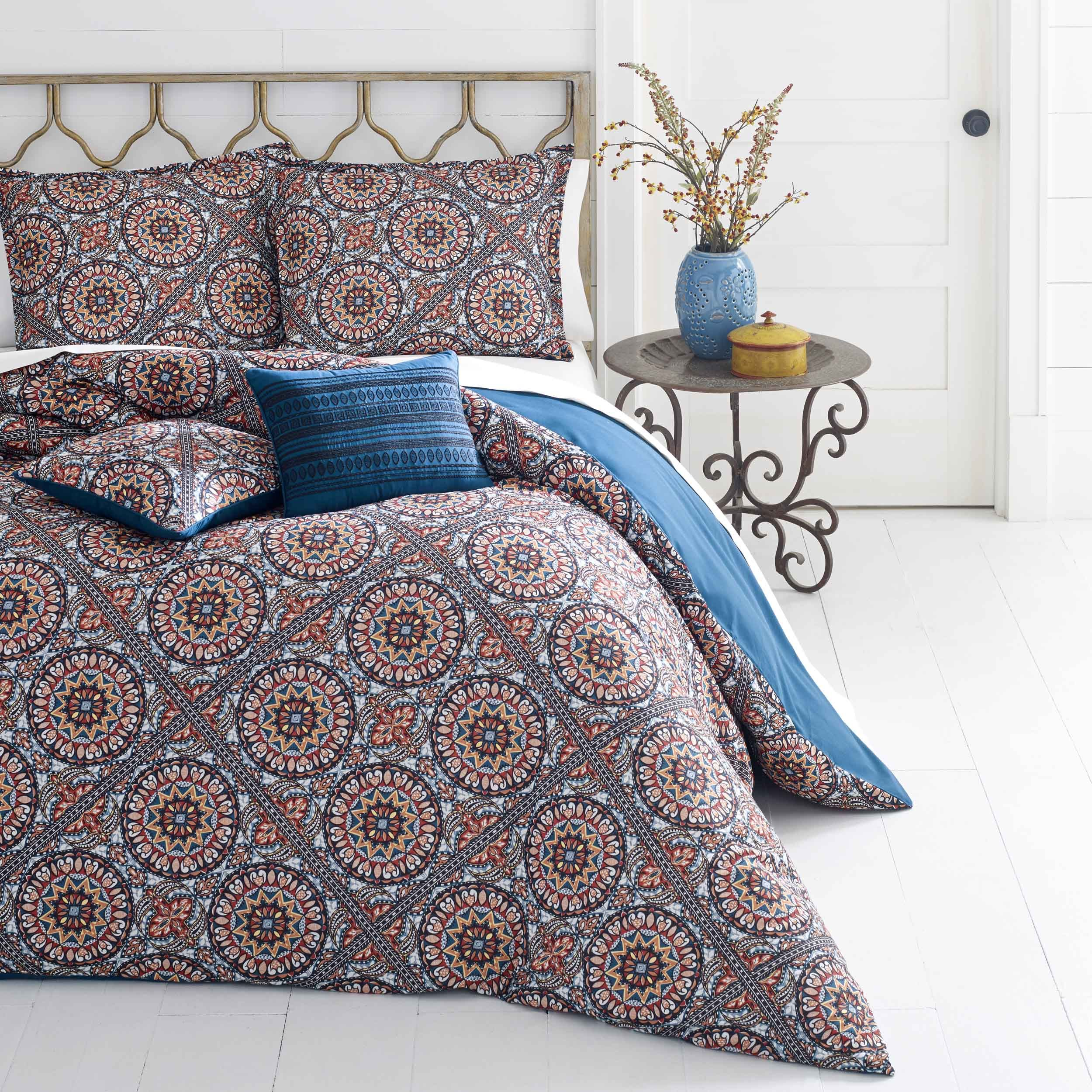 This colorful pattern is stunning We are loving our new bedding