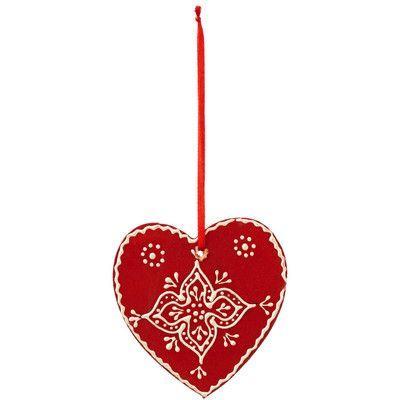 Sage & Co. Chalet Wood Toole Paint Heart Ornament (Set of 12)