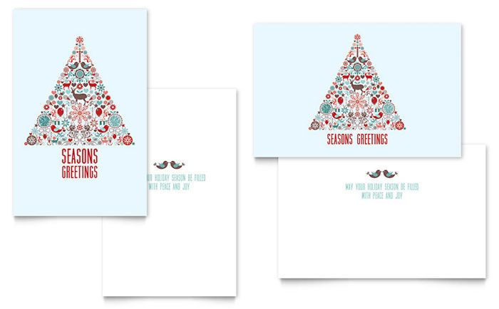 Holiday Art Greeting Card Template Design by StockLayouts post - christmas card word template