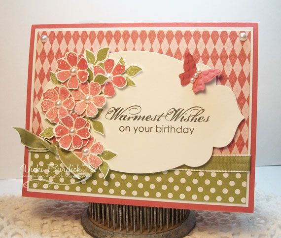 Stampin' Up! Birthday by Vicki B at Its a Stamp Thing: Warm Birthday Wishes