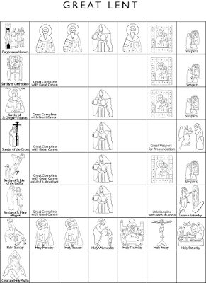 Printable Calendar for Orthodox Lent for kids, and other