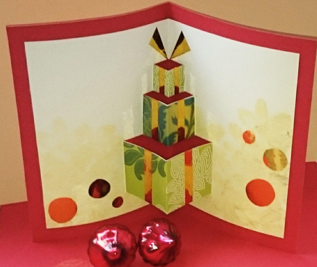 Künstlerisch Weihnachtskarten Selbst Basteln Das Beste Von Pop-up Weihnachtskarte Selber / Pop-up Card For