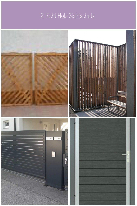 2 Echt Holz Sichtschutz Balkon Terrasse Zaunfeld Schmuckzaun