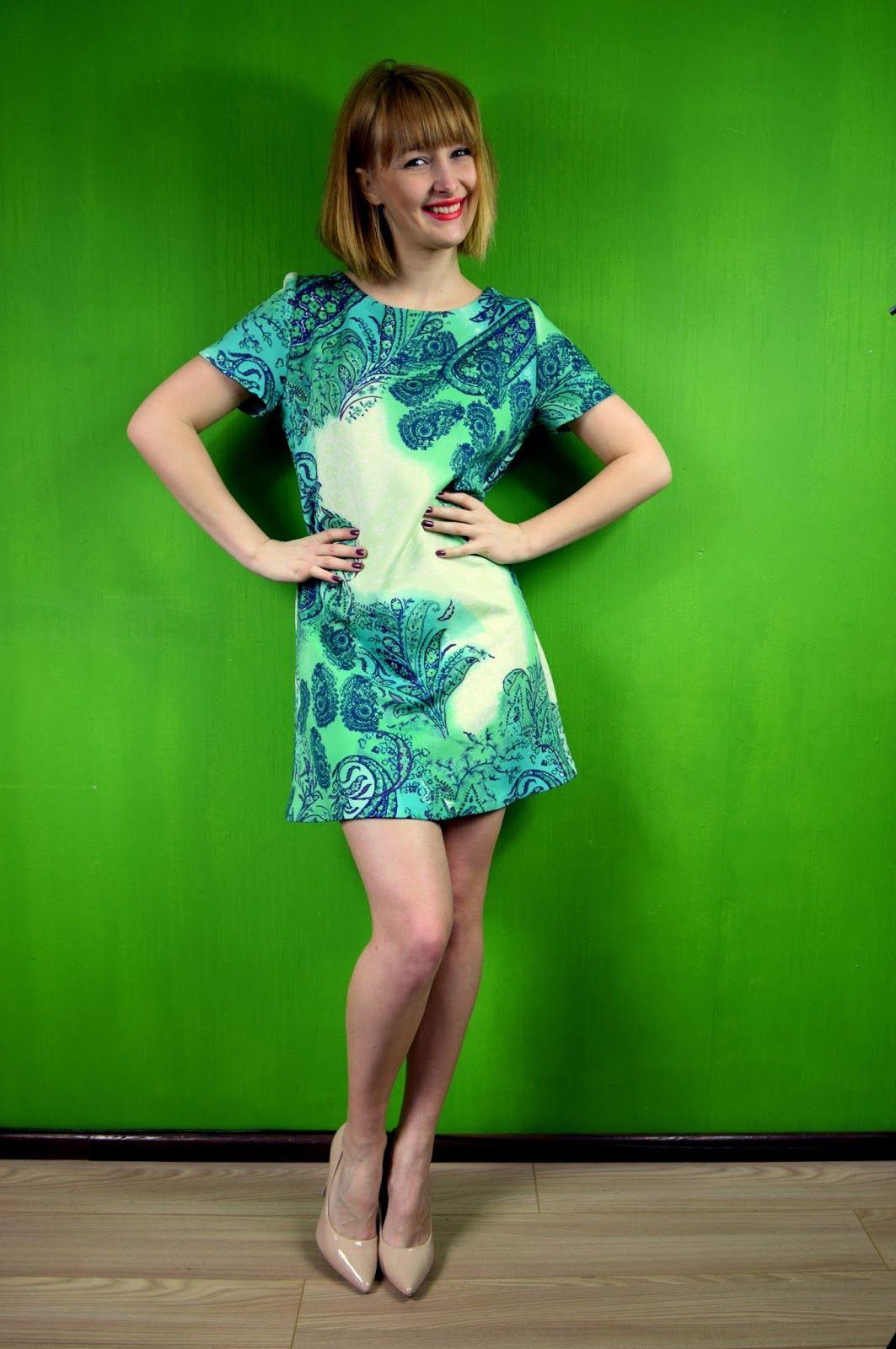 Moja Wzorzysta Noworoczna Sukienka Clothes Vintage Outfits Fashion