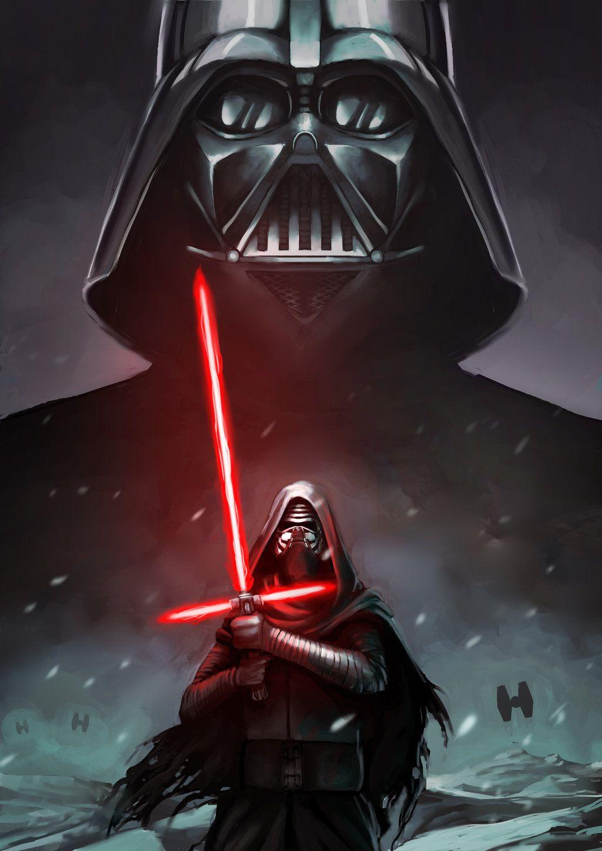 Wallpaper iphone kylo ren - Darth Vader And Kylo Ren By Alex Donovan