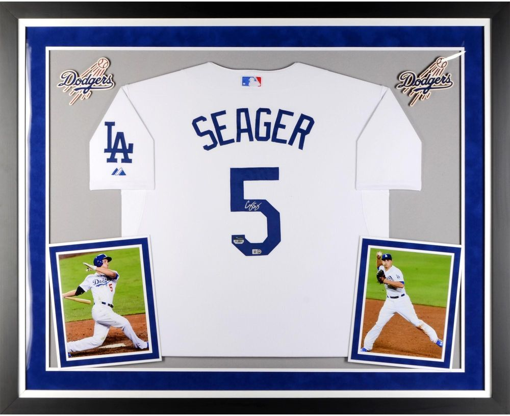 Corey Seager LA Dodgers Framed Signed White Jersey - Fanatics Authentic   Baseball 7cb6a1e75