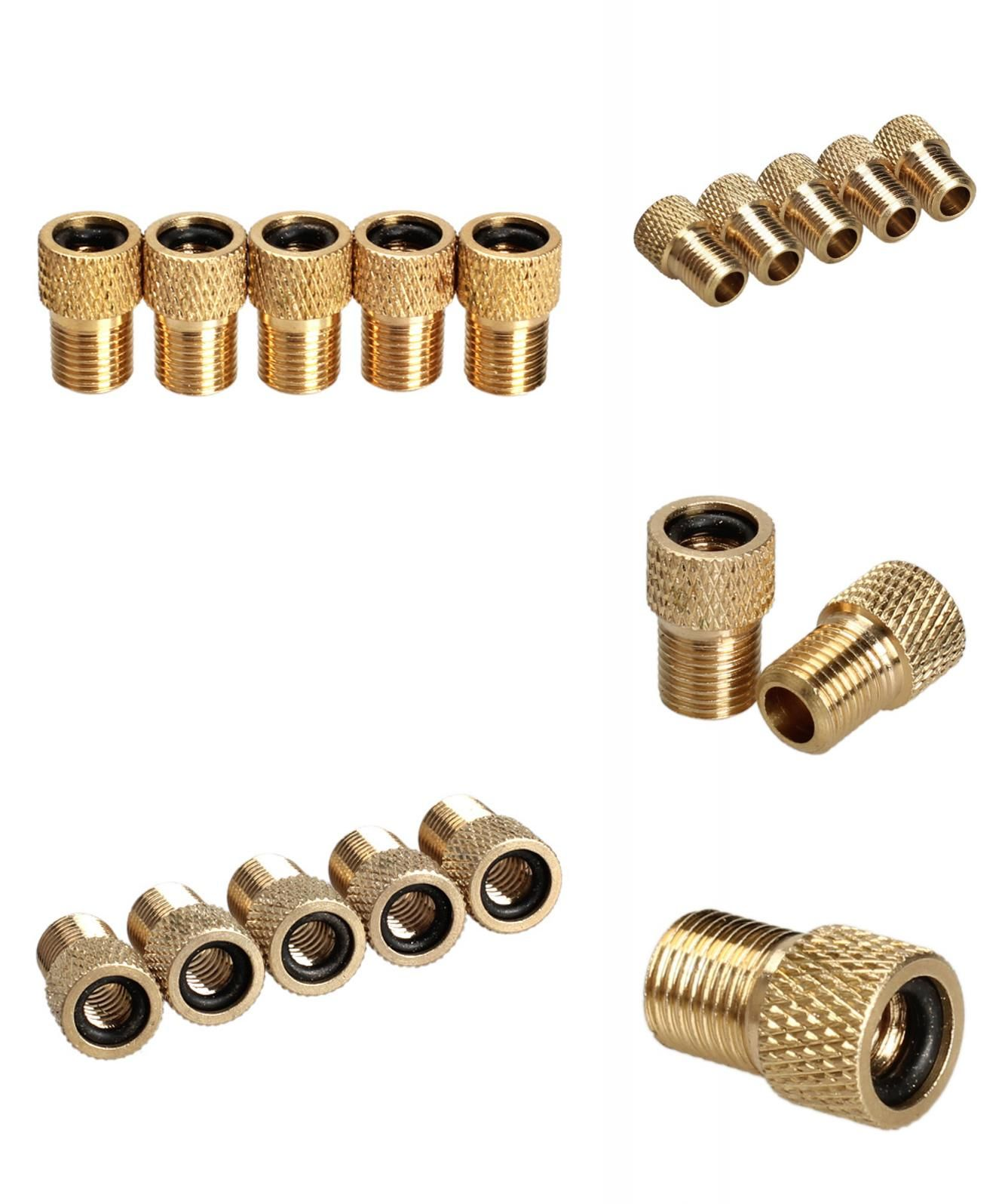 5x Bicycle Bike Tire Valve Adapter Presta Schrader Tube Pump Tool Converter Tube