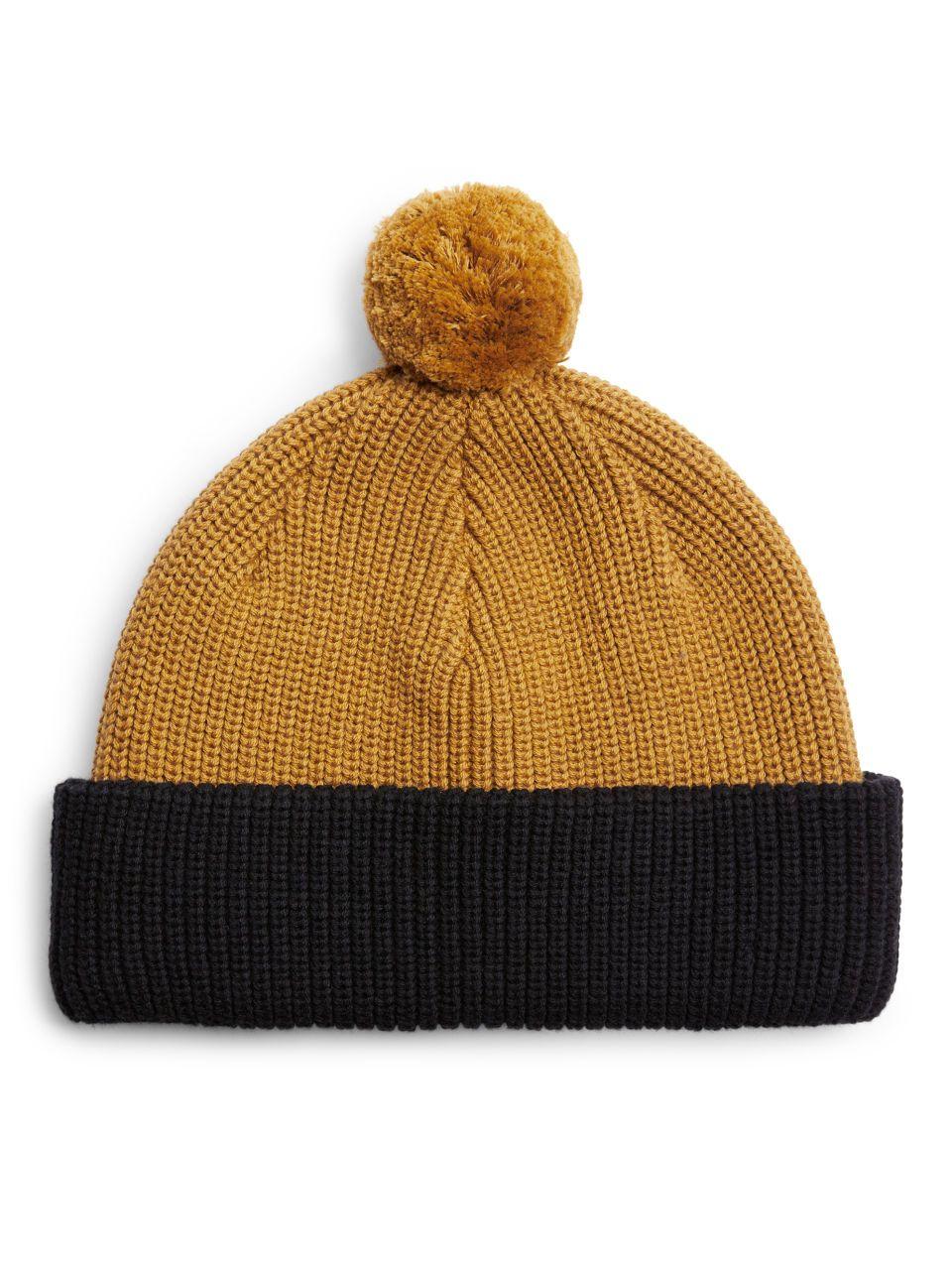 Merino Cotton Chunky Beanie - Dark Yellow Blue - Bags   accessories - ARKET  IE 3643acfa9f4