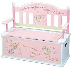 Levels of Discovery Fairy Wishes Bench Seat with Storage $174.95
