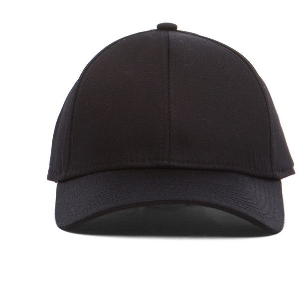 8de5cf53ce6 Acne Studios Satin Camp Hat in Black ( 130) ❤ liked on Polyvore featuring  accessories