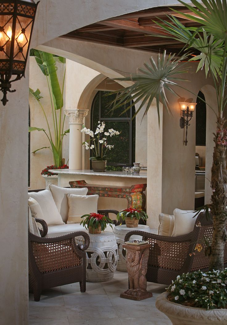 Colonial terrace Fabulous outdoor rooms Pinterest Outdoor