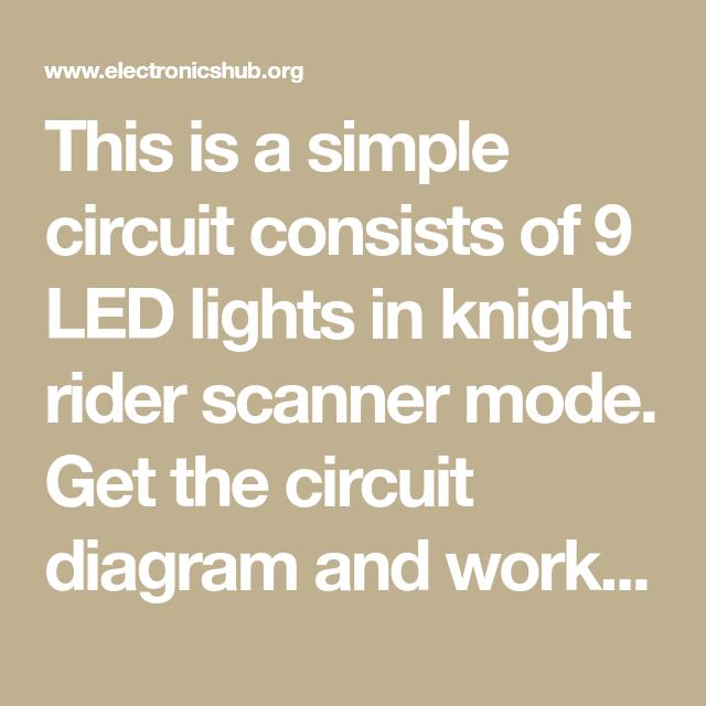 Led Knight Rider Circuit Circuit Diagram Circuit Circuit