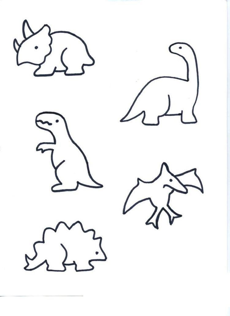 einfache malvorlage dinosaurier  tiffanylovesbooks