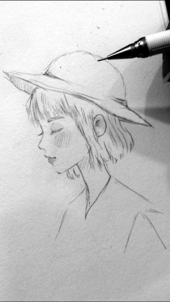 Gesicht profil zeichnen
