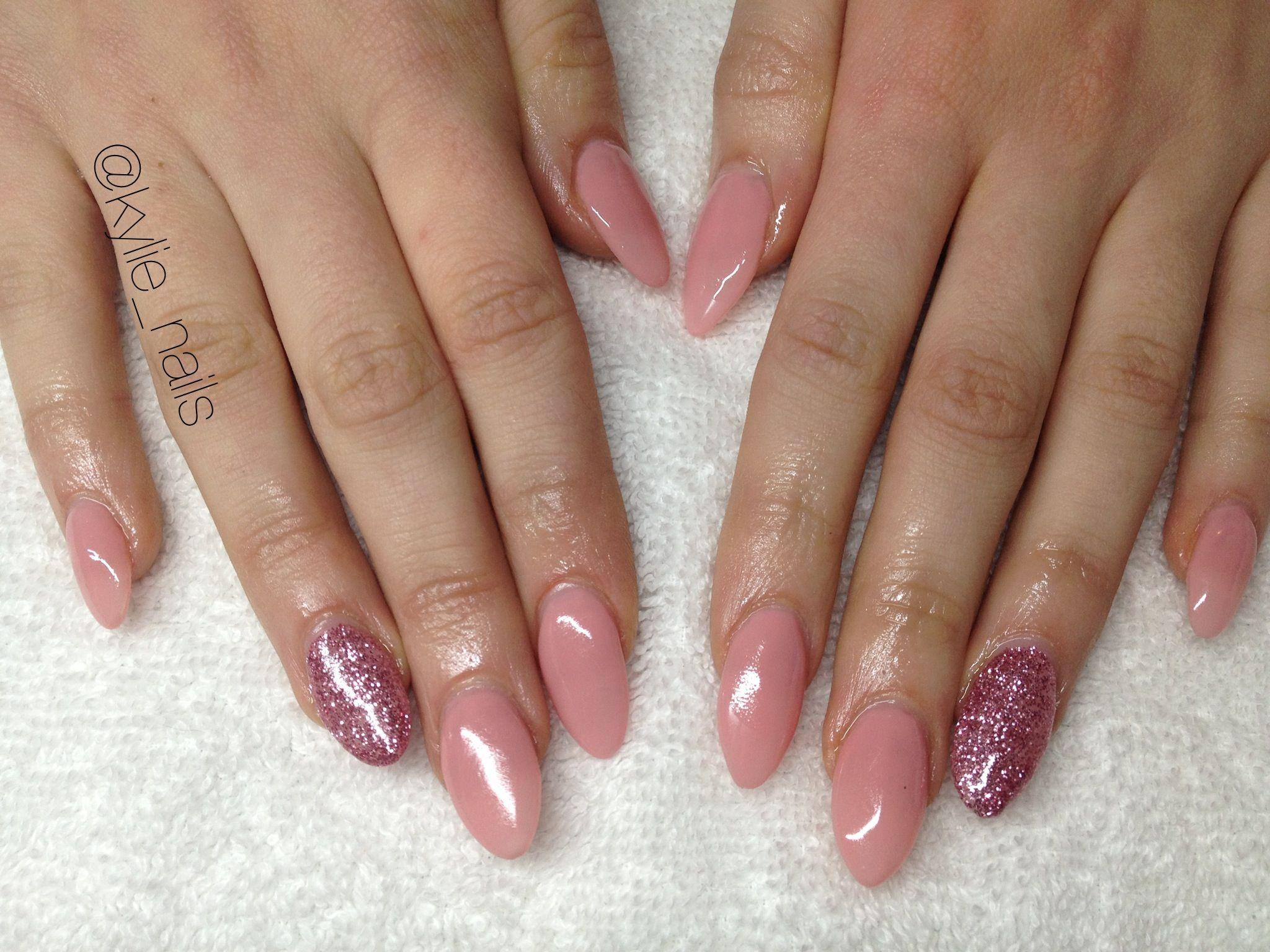 En vogue gel nails, rose pink , almond shape gel nails | Beauty ...