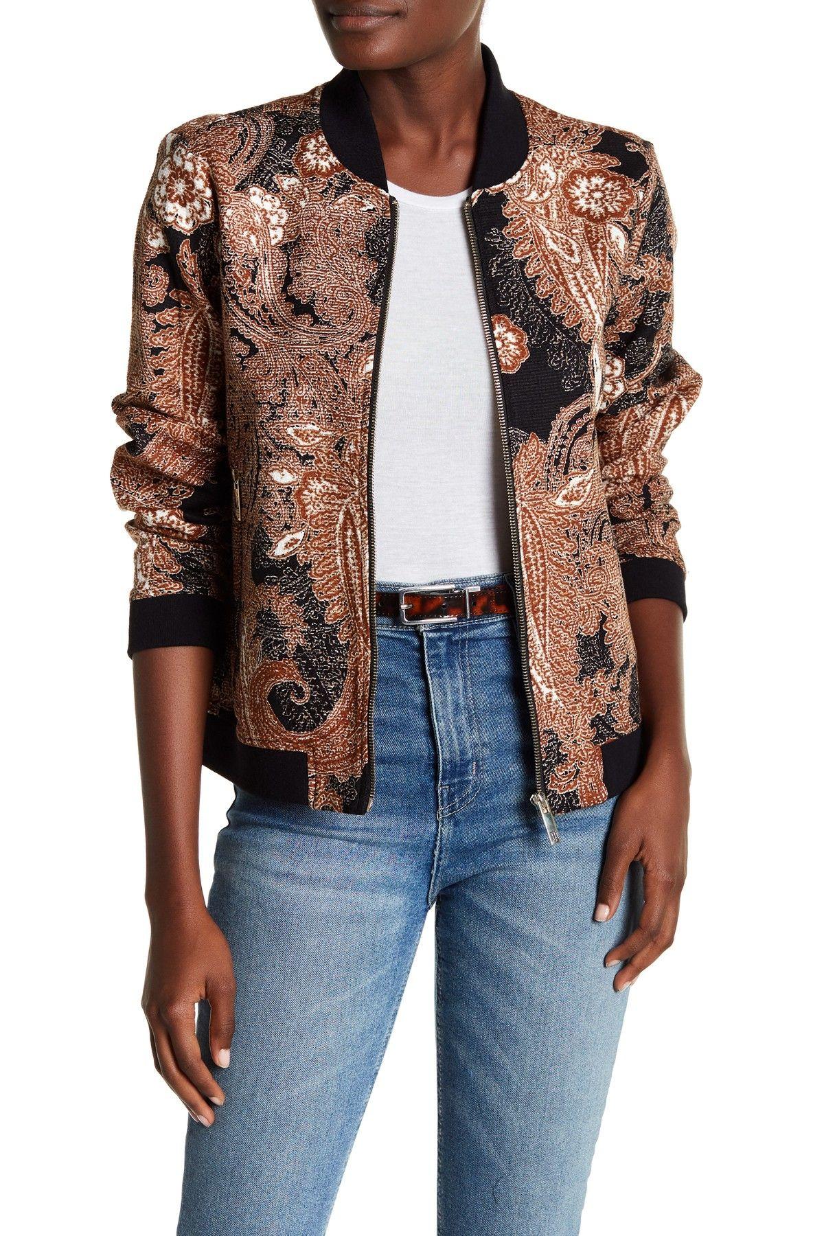 Tommy Hilfiger Paisley Bomber Jacket Bomber Jacket Jackets Fashion [ 1800 x 1200 Pixel ]