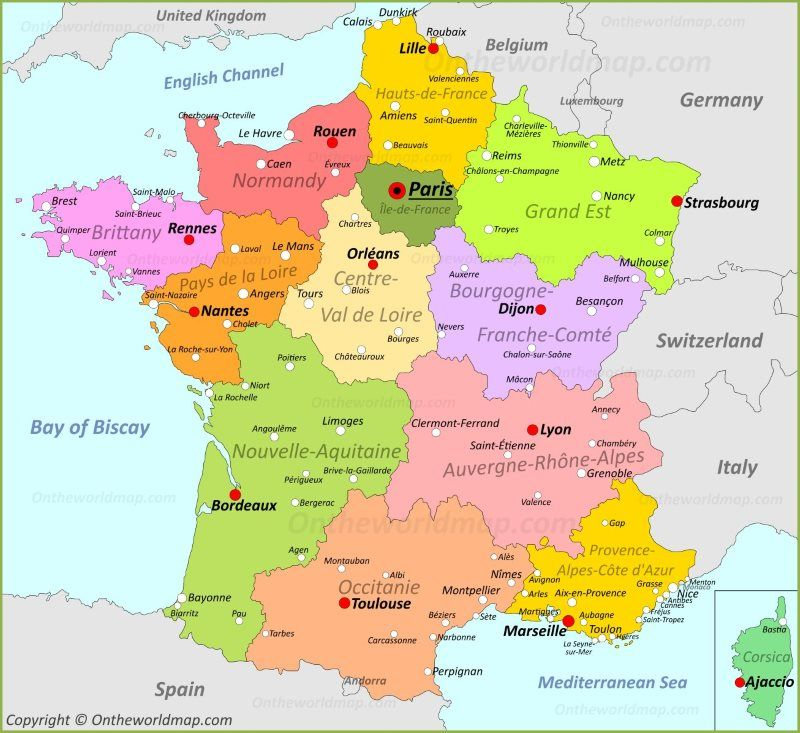 France France Map Where Is France France