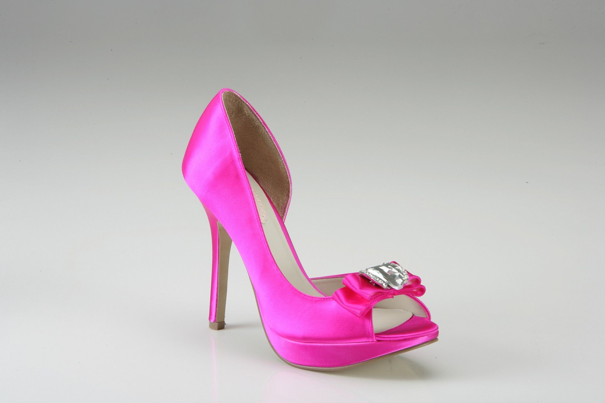 Pink High Heels For Wedding: Pink Paradox Lipstick Dyed Hot Pink Wedding Shoes