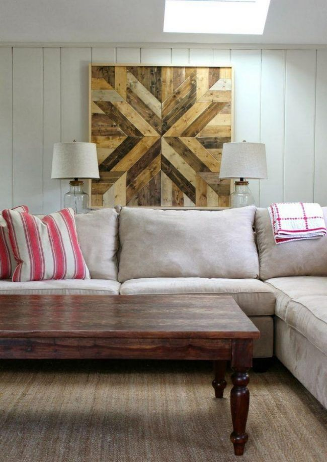 Wanddeko aus Holz selber machen 32 kreative