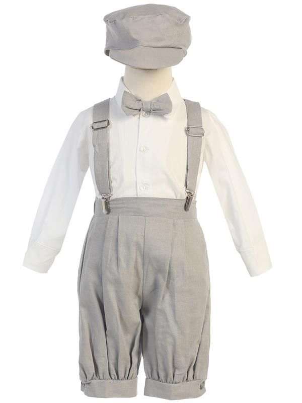 Lito Little Boys Charcoal Elastic Special Occasion Long Dress Pants 4T