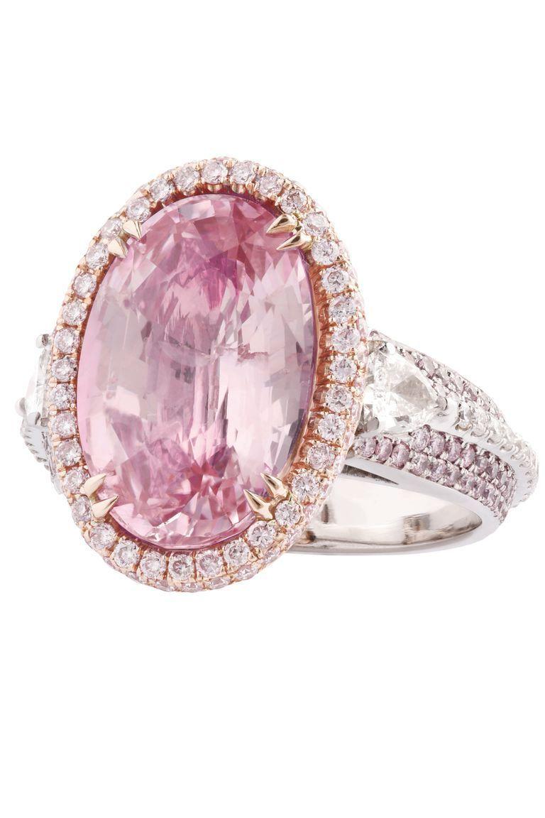 Lugano diamonds padparadscha sapphire ring engagement pinterest