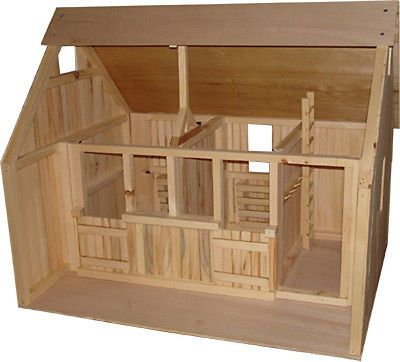 Wooden Barn Stable Perfect For Your Breyer Horses Wooden Toy Barn Wooden Barn Doll House Plans