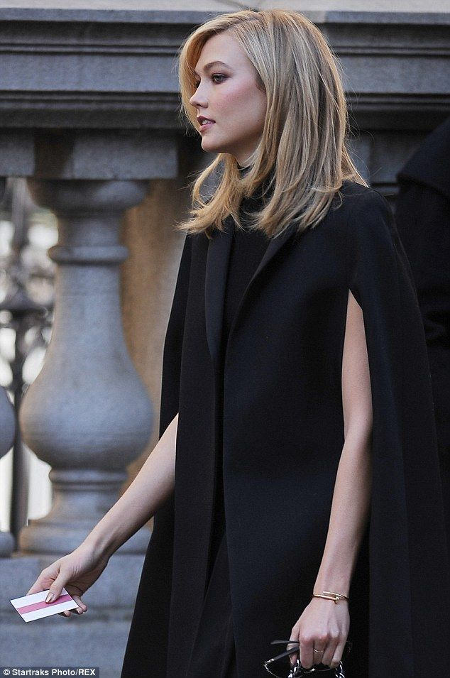 Model Behaviour Karlie Kloss Arrives At The Private Service
