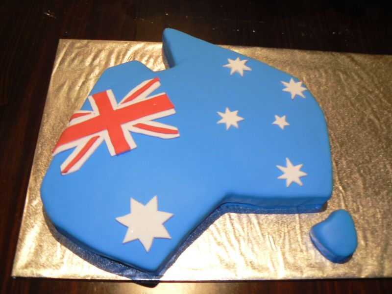 Australia day cakes cakesnt by gayle candi mcquinn for Australia day decoration