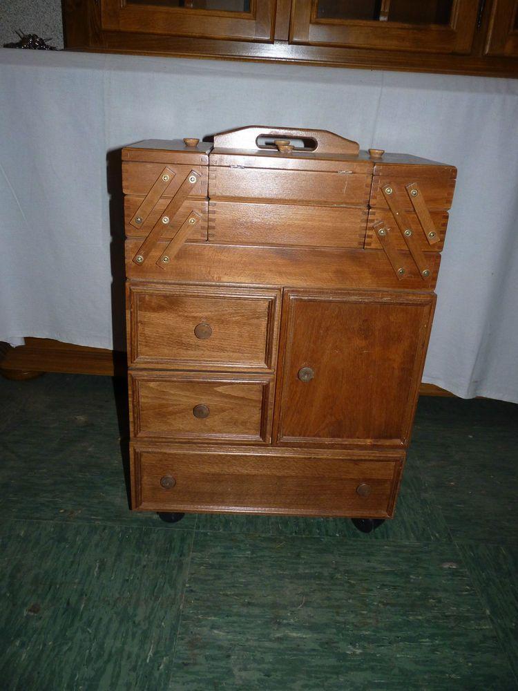 groser n hkasten um 1960 holz n htisch n h kasten alter holzn hkasten m bel. Black Bedroom Furniture Sets. Home Design Ideas