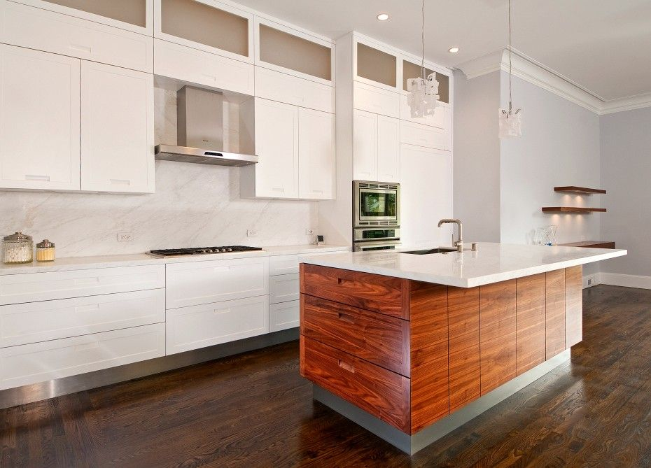 Kitchen decor ideas with walnut cabinets