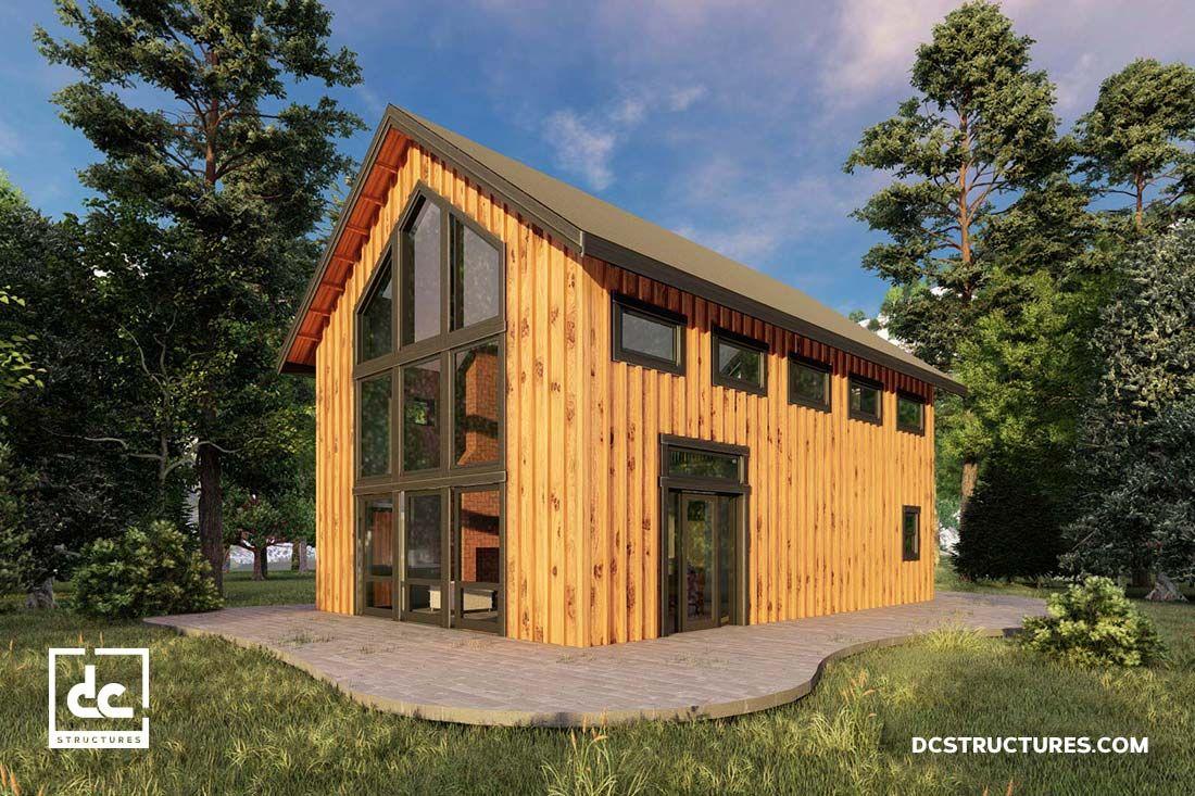 The Stillwater Barn Home Kit Lofted Barn Style Home Dc Structures Barn House Kits Barn Style House Barn House