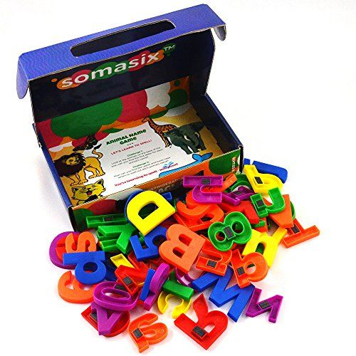 Somasix New And Improved Abc Magnetic Letters And Numbers Https Www Amazon Com Dp B013cop5o6 Ref Magnetic Letters Letters And Numbers Activities For Kids