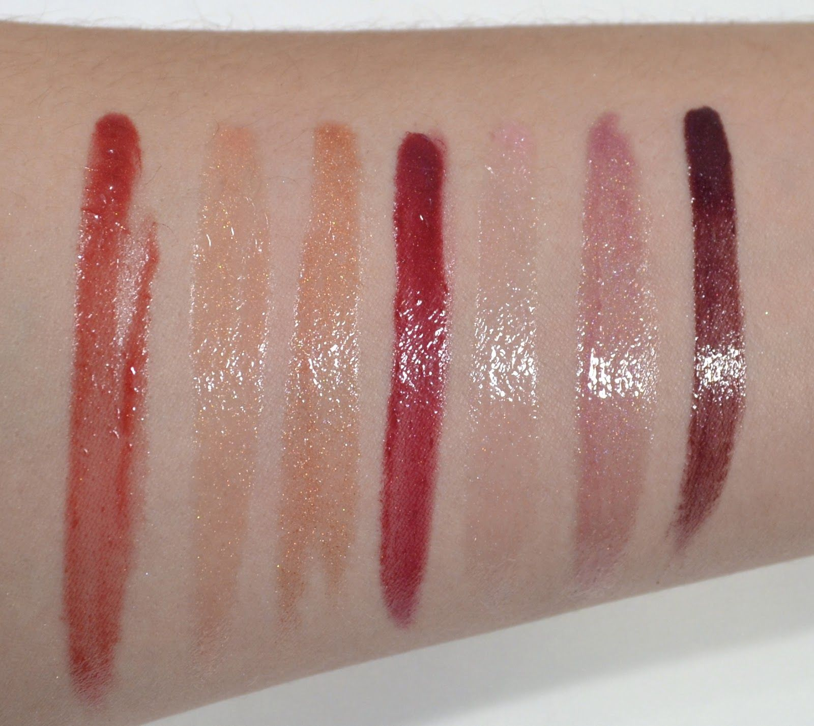 Burt's Bees 100% Natural Lip Glosses Swatches: Evening Glow ...