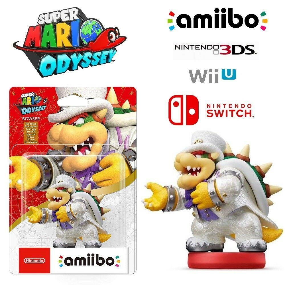 Bowser White Outfit Amiibo Super Mario Odyssey Series