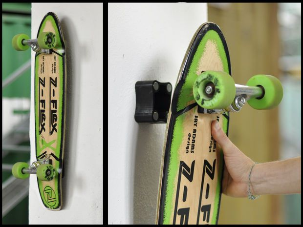 This Discrete Magnetic Hanging System For Skateboards And Longboards Is  Genius! For The Skateboard Aficionado.