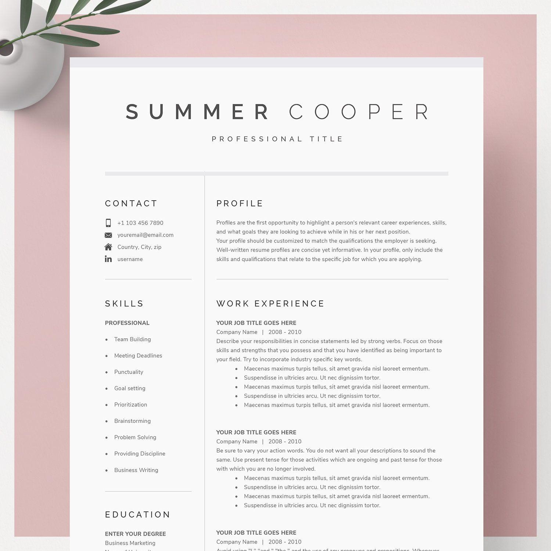 Modern Resume Template for Google Docs, Microsoft Word