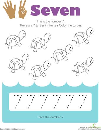 tracing numbers 7 fun activities preschool worksheets numbers preschool learning numbers. Black Bedroom Furniture Sets. Home Design Ideas