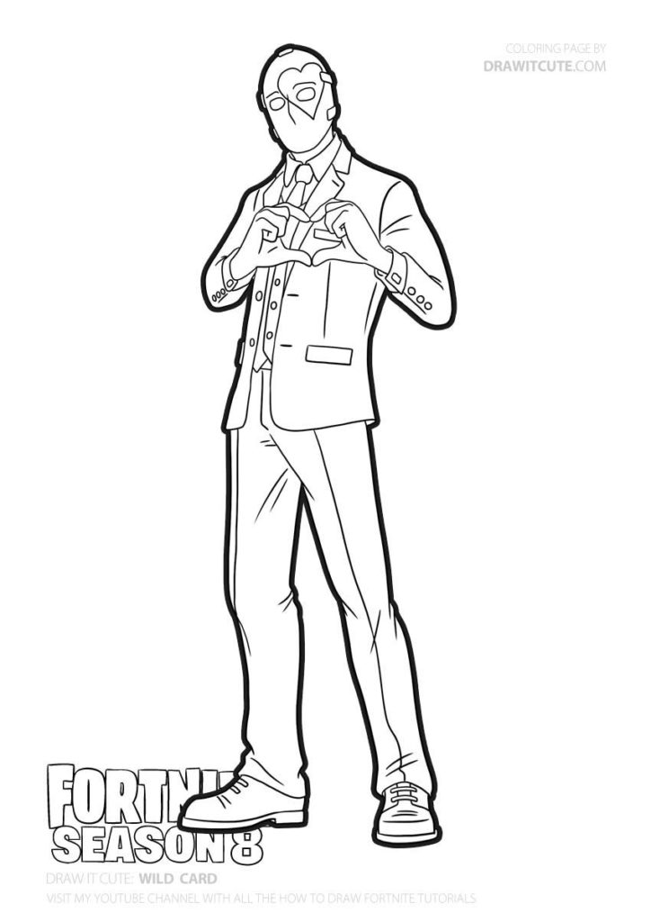 Fortnite Coloring Pages Fire King Images