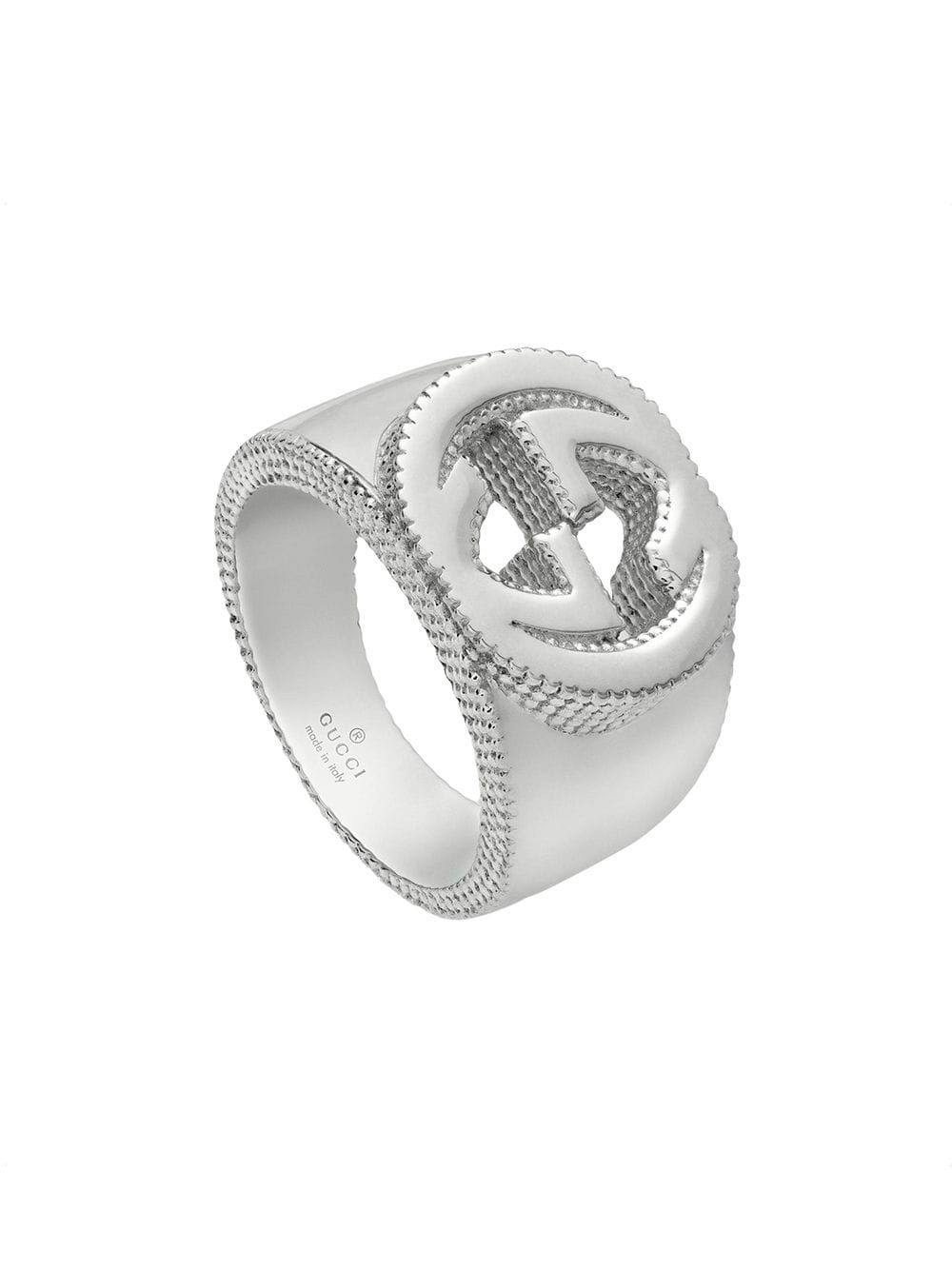 Gucci Interlocking G Ring In Silver Farfetch Silver Accessories Silver Jewelry