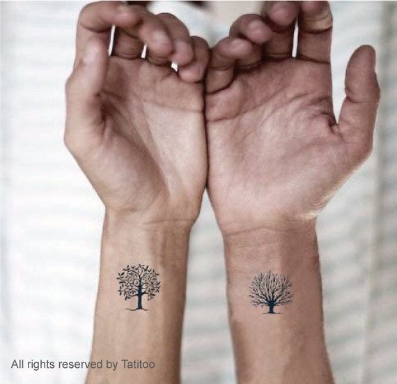 Trees3pcs  Temporary Tattoo313 by JustTats on Etsy, $4.99