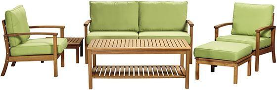 Martha Stewart Living™ Lake Carolina 6-Piece Deep Seating ... on Martha Stewart 6 Piece Patio Set id=17983